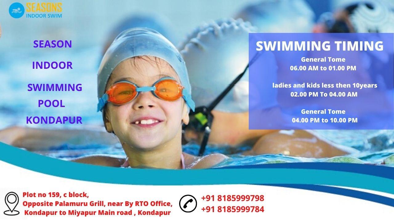 Temperature controlled indoor swimming pool in Kondapur